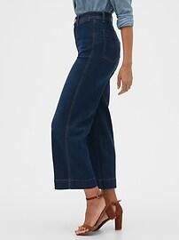 High Rise Wide-Leg Crop Jeans