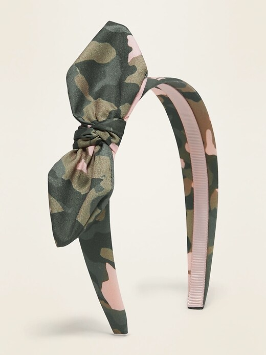 Fabric-Covered Knotted Headband for Girls