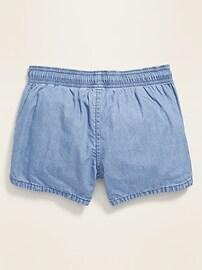 Functional-Drawstring Pull-On Shorts for Girls