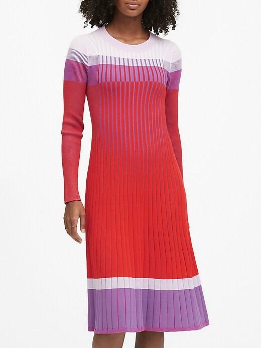 Color-Block Sweater Dress