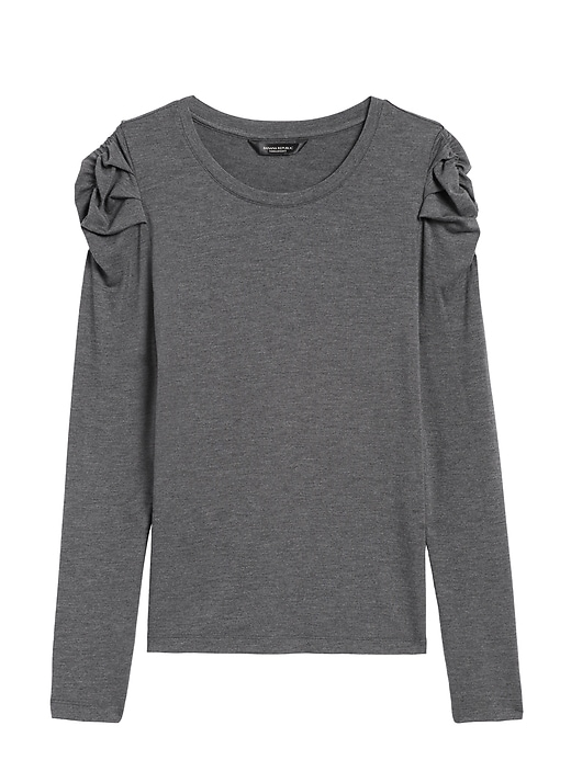 Petite Threadsoft Puff-Sleeve T-Shirt
