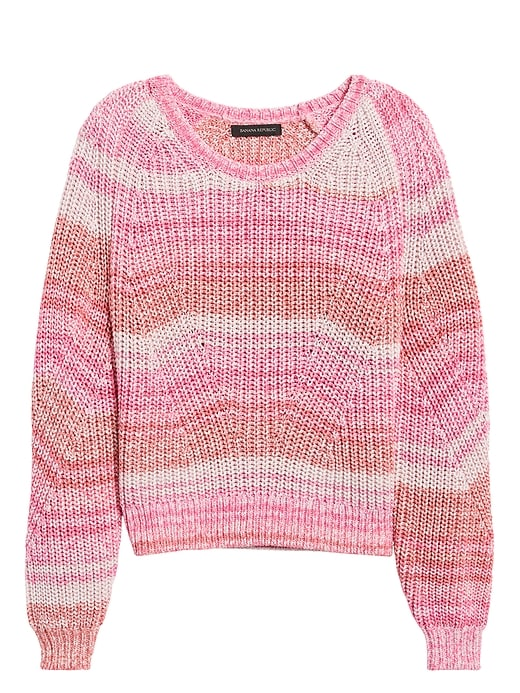 Petite Spacedye Cropped Sweater