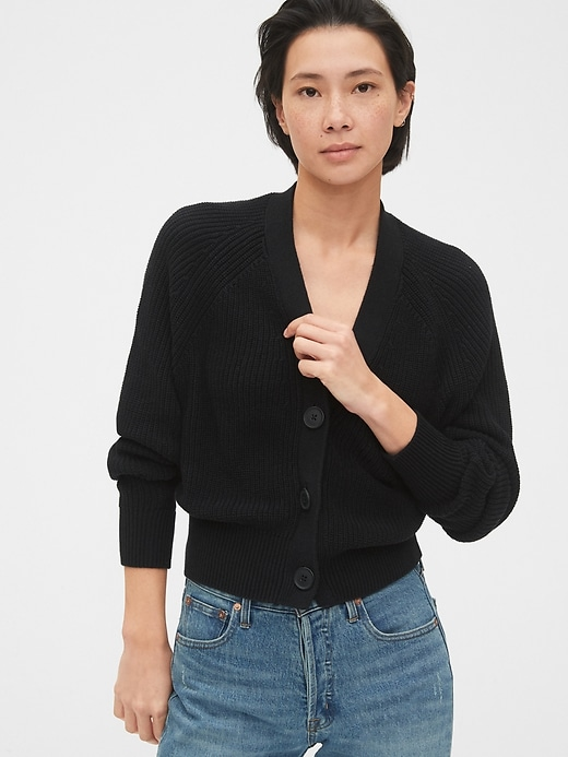 Slouchy Cropped Cardigan