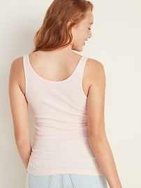 First-Layer Slim-Fit Rib-Knit Tank Top for Women