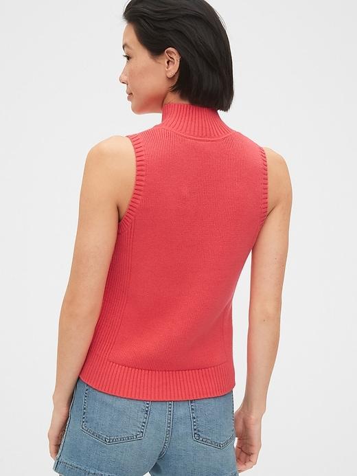 Mockneck Tank Sweater