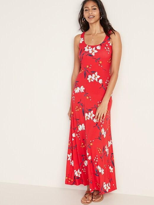 Scoop-Neck Jersey Maxi Dress for Women