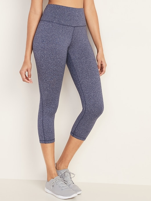High-Waisted Elevate Soft-Brushed Compression Crops For Women