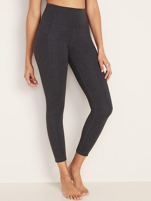 High-Rise Balance 7/8-Length Side-Pocket Leggings for Women