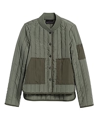 Water-Resistant Quilted Jacket