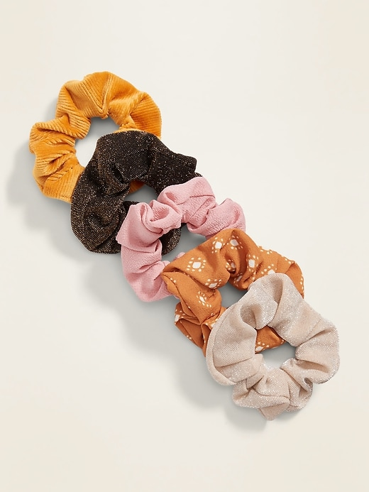 Scrunchie Hair-Tie 5-Pack for Women
