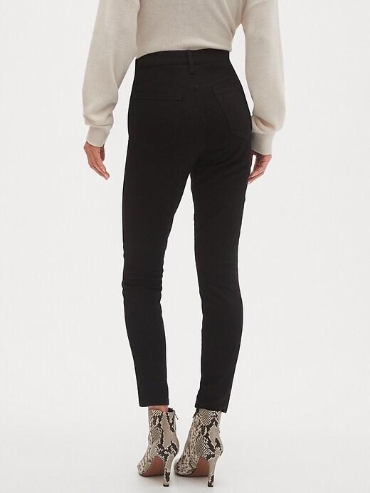 Curvy High-Rise Fade Resist Black Skinny Jean