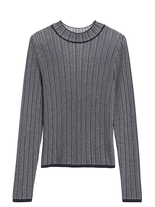 Petite Cropped Textured Sweater Top