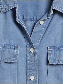 Petite Dillon Classic-Fit TENCEL&#153 Utility Shirt