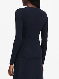 Petite Ribbed Sweater Top
