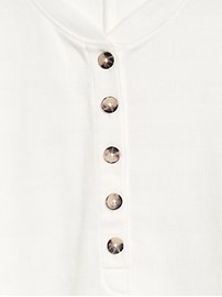 Cropped Balloon-Sleeve T-Shirt