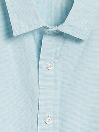 Untucked Slim-Fit Linen-Cotton Shirt
