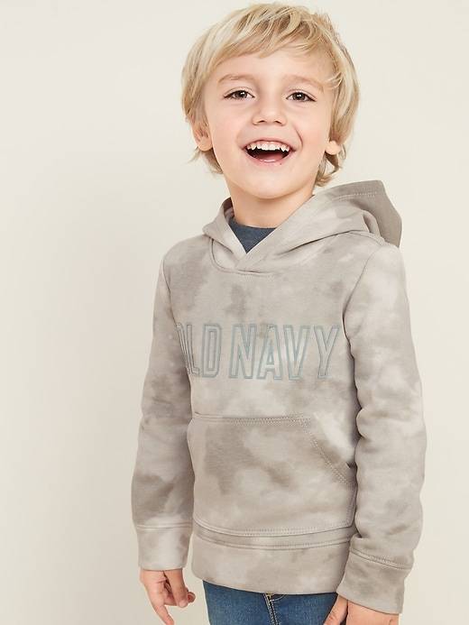Logo-Graphic Pullover Hoodie for Toddler Boys