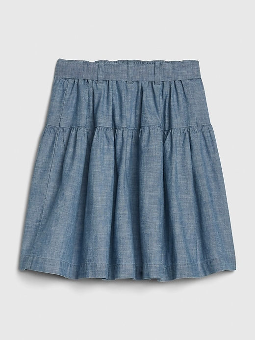 Kids Chambray Button-Front Skirt
