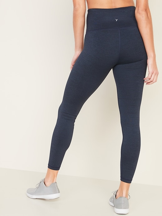 High-Waisted Elevate 7/8-Length Compression Leggings for Women
