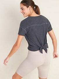 Breathe ON Tie-Back Scoop-Neck Top for Women