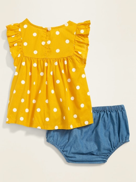 Ruffled Blouse & Bloomers Set for Baby
