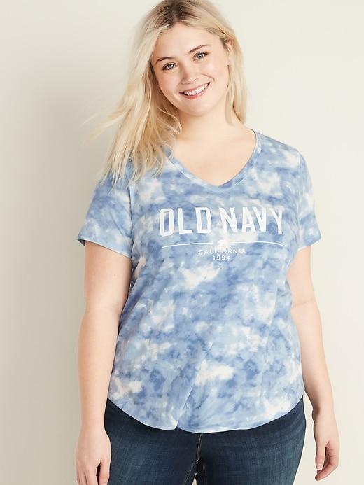 T-shirt tout-aller à col enV en tricot grège, taille Plus