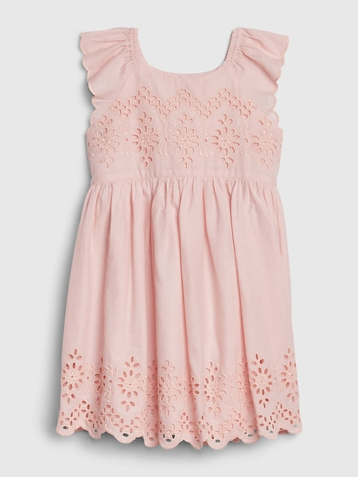 Toddler Eyelet Flutter Dress