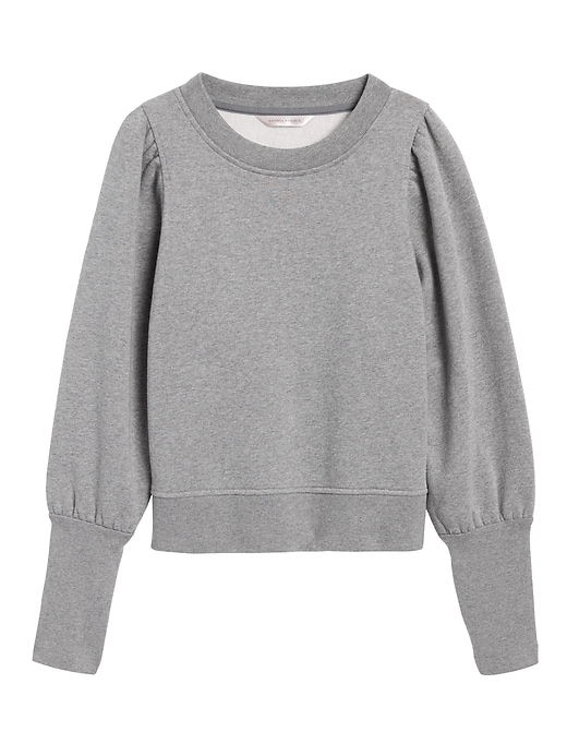 Cropped Puff-Sleeve Sweatshirt