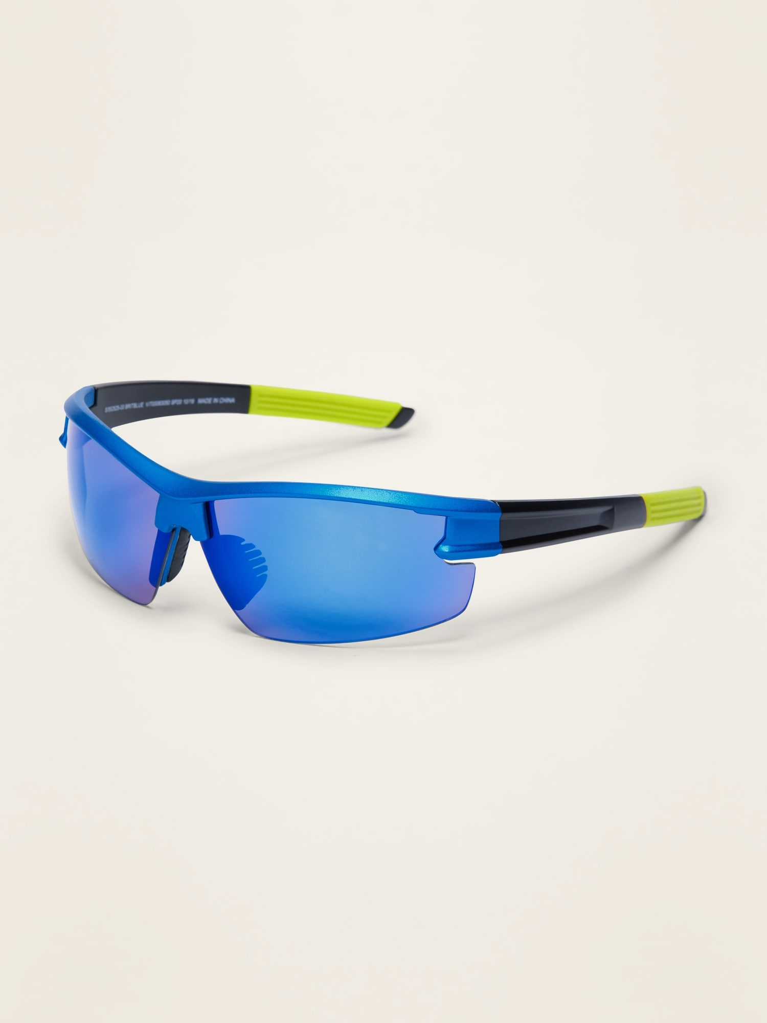 Color-Blocked Sports Sunglasses for Boys