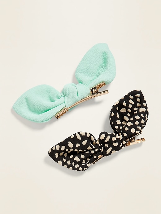 Bow-Tie Hair Clip 2-Pack for Girls