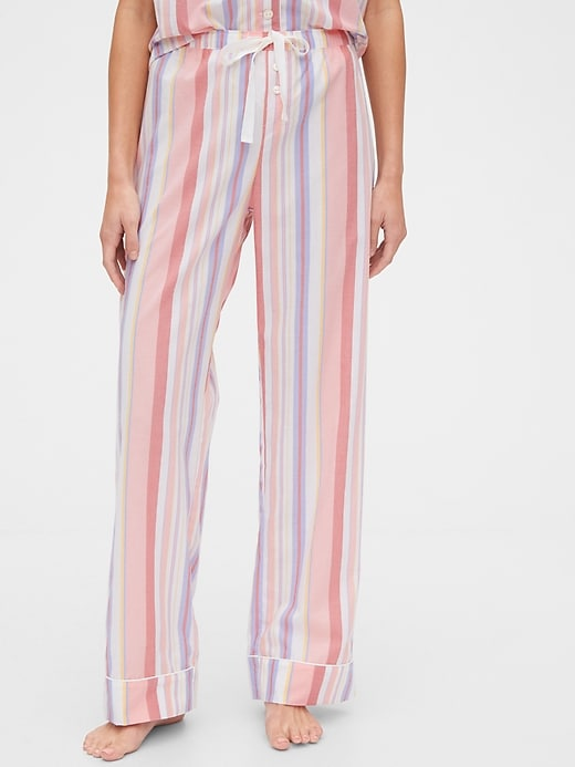 Relaxed Pajama Pants in Poplin