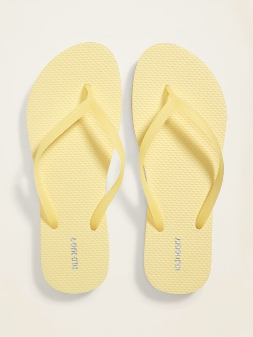 Pop-Color Flip-Flops for Women