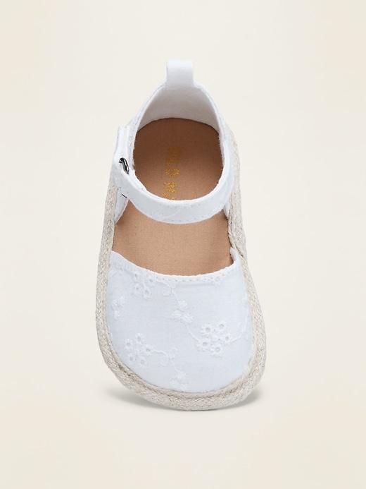 Ankle-Strap Eyelet Espadrille Sandals for Baby