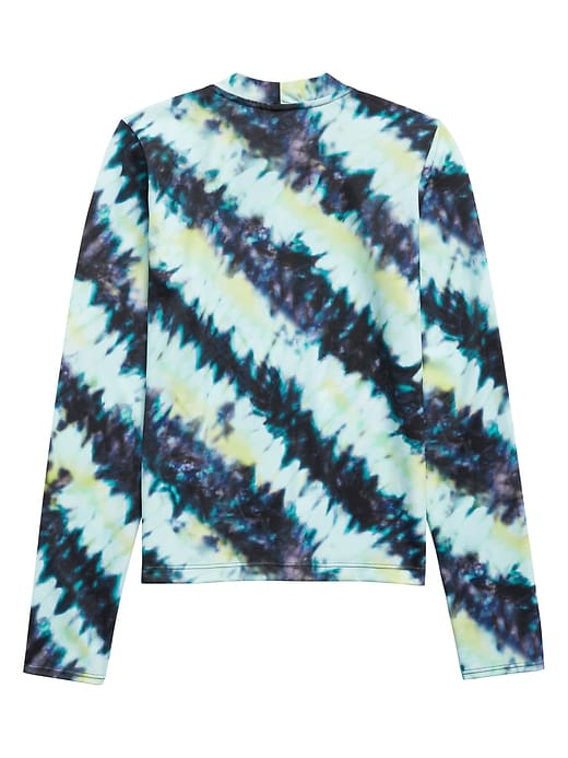 Athleta Girl Palm Tie Dye Long Sleeve Rashguard