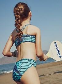 Athleta Girl Palm Tie Dye Bikini Top