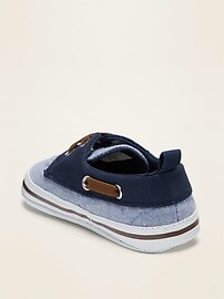 Chambray Boat Shoes for Baby