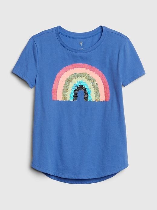 Kids Flippy Interactive Graphic T-Shirt