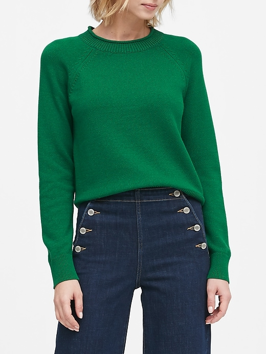 Cotton-Blend Cropped Sweater