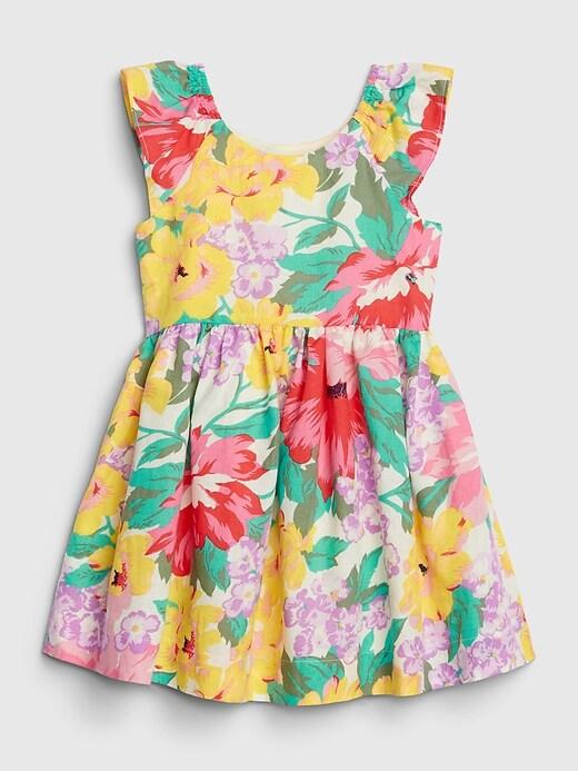 Toddler Flutter Floral Dress