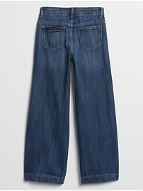 Kids High Rise Wide-Leg Jeans