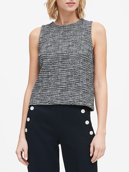 Tweed Cropped Shell