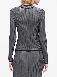 Cropped Textured Sweater Top