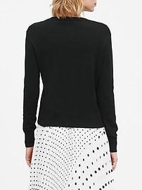 Petite Silk-Cotton Boxy Cropped Sweater