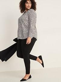 Cheetah-Print No-Peek Plus-Size Tunic Shirt