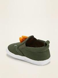 Dinosaur Critter Slip-Ons for Baby