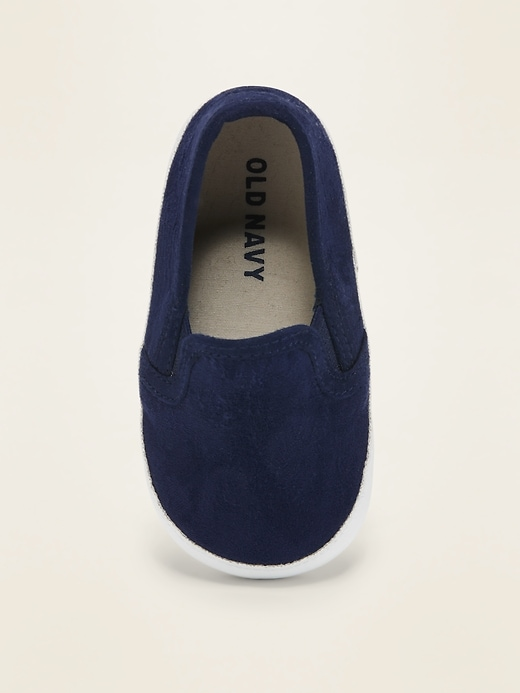 Faux-Suede Slip-Ons For Baby