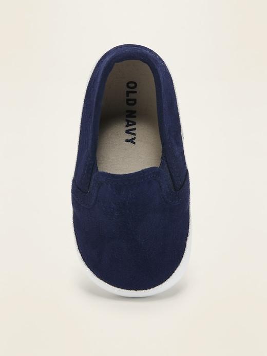 Chaussures à enfiler en faux suède pour bébé