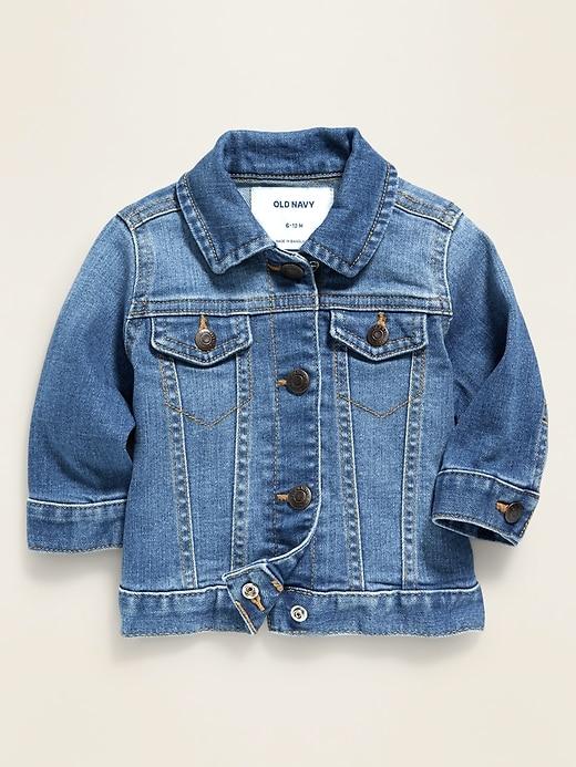 Medium-Wash Jean Jacket for Baby