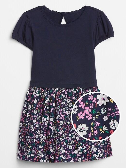 Toddler Mix-Media Dress