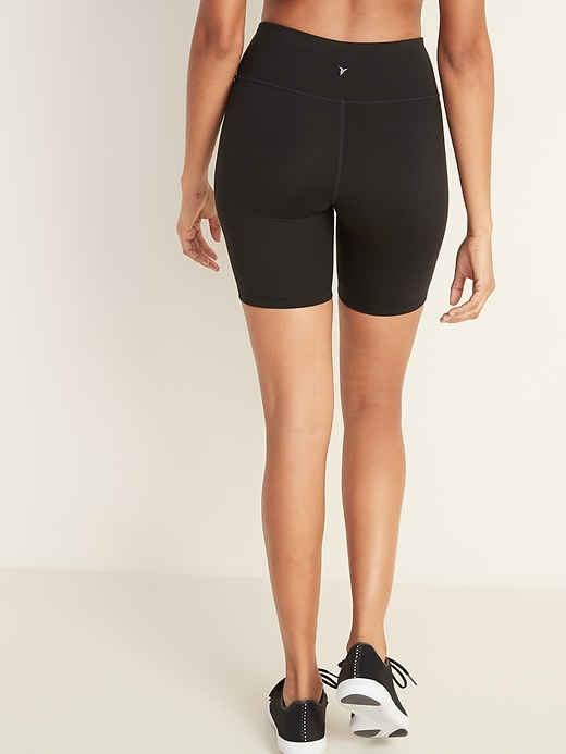 Mid-Rise Compression Bermuda Shorts for Women -- 8-inch inseam